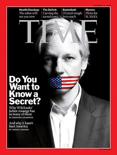 Capa da revista Time de dezembro de 2010 (Você quer saber um segredo?)