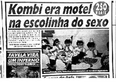 Manchete do jornal 'Notícias Populares'