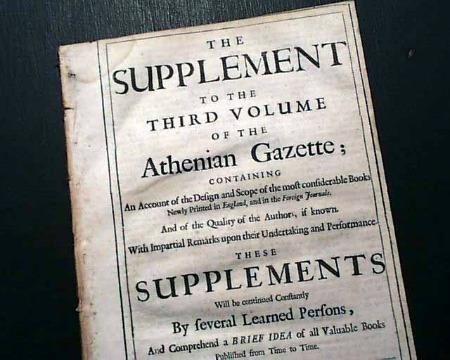 Exemplar da Athenian Gazette