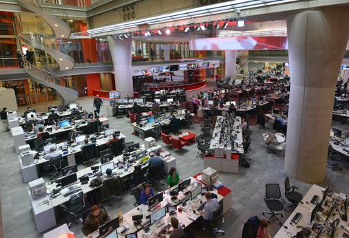 Newsroom da BBC