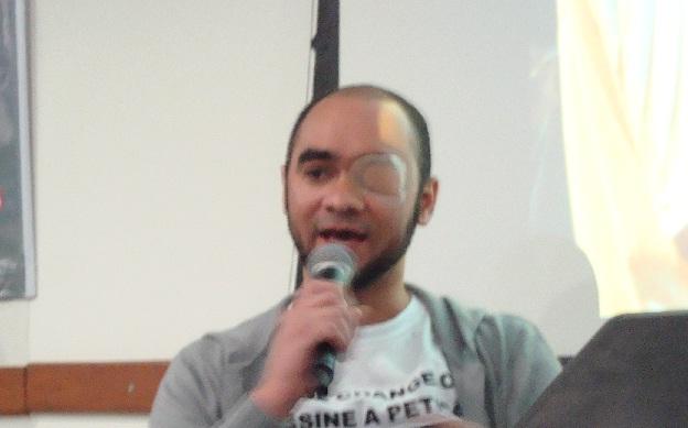 O fotojornalista Sérgio Silva participou de evento em São Paulo (Foto: Kelly Mantovani)