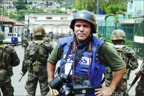 Em setembro de 2009, durante golpe militar em Honduras. Foto: Arquivo Pessoal