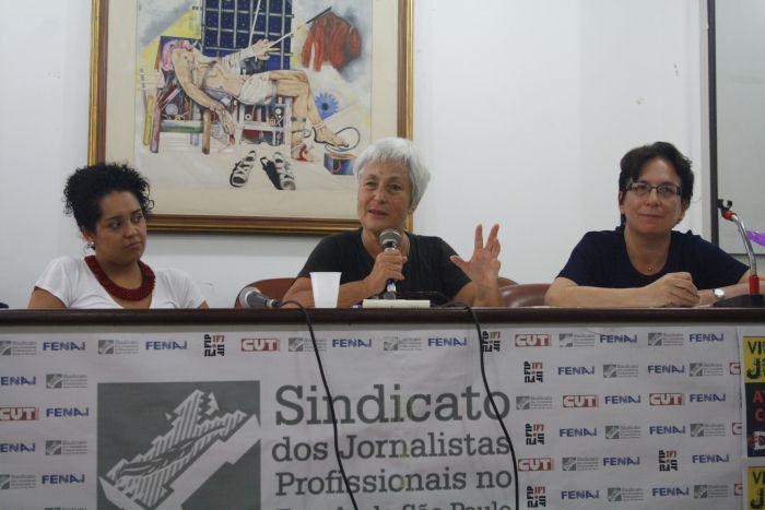 Da esquerda para a direita: Bianca Santana, Rachel Moreno e Roseli Fígaro. Foto: Emílio Coutinho