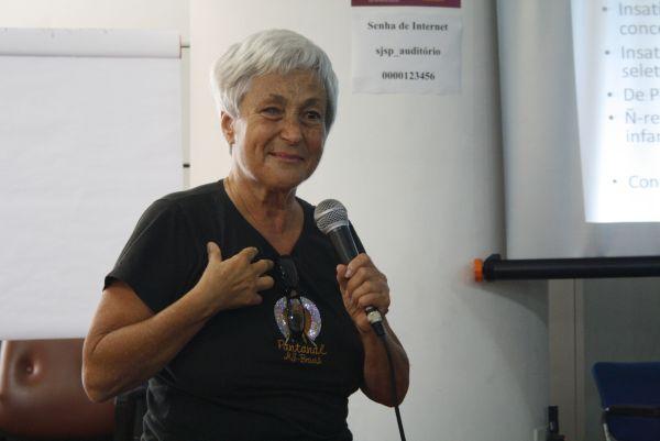 Rachel Moreno,  Psicóloga especialista em Sexualidade Humana,fundadora do Observatório da Mulher. Foto: Emílio Coutinho.