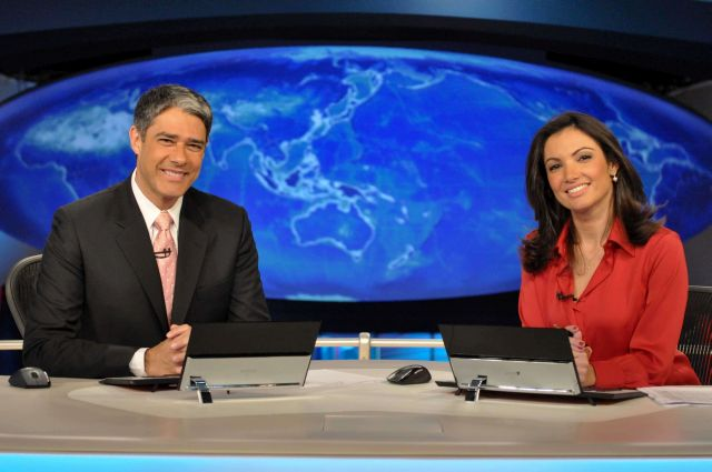 William Bonner e Patrícia Poeta apresentam o Jornal Nacional