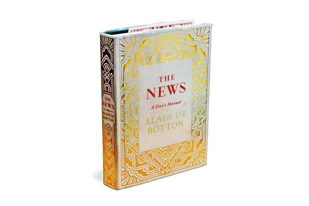"""Livro """"The news: A user's manual"""" (Notícias: Um manual do usuário), escrito por Alain de Botton. Foto: Divulgação."""