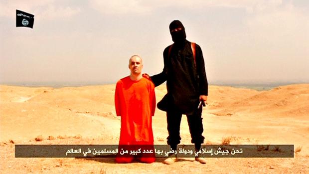 Jornalista americano James Foley, antes de ser decapitado por um dos integrantes do grupo radical Estado Islâmico (EI), no dia 19 de agosto de 2014. Foto: Reprodução.