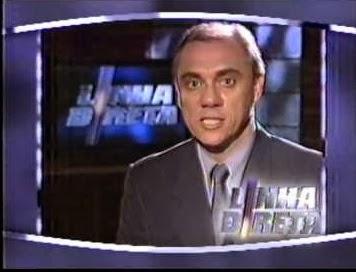 Marcelo Rezende apresentou o programa Linha Direta na Rede Globo.