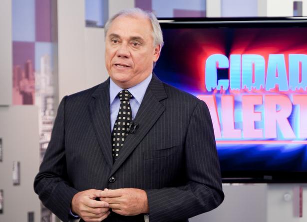 Marcelo Rezende, jornalista e apresentador do Programa Cidade Alerta.