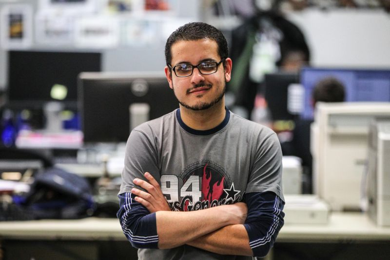 Juliano Moreira é um dos pauteiros do Jornal Agora, que faz parte do grupo Folha. Foto: Vinícius Pereira