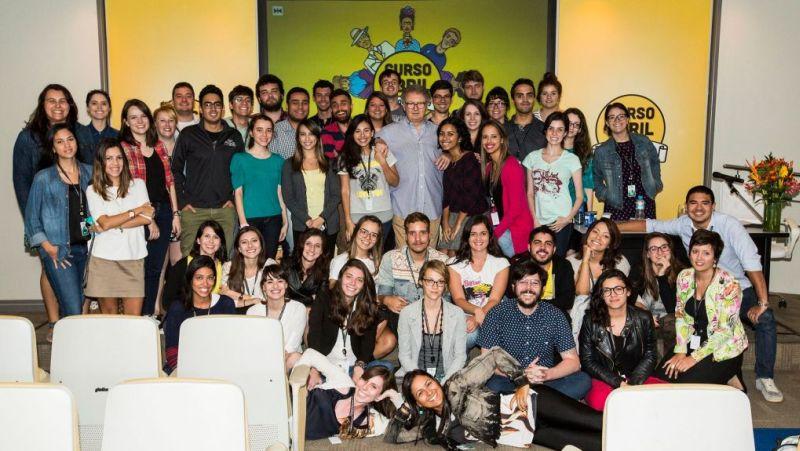 Participantes do Curso Abril de Jornalismo 2015. (Foto: Divulgação)