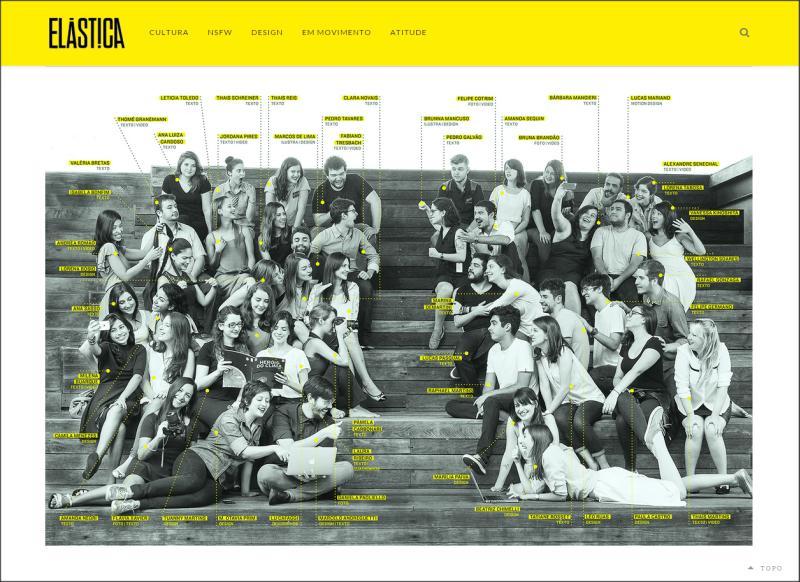 A ELÁSTICA é o produto final do Curso Abril de Jornalismo 2015 (Foto: Reprodução)