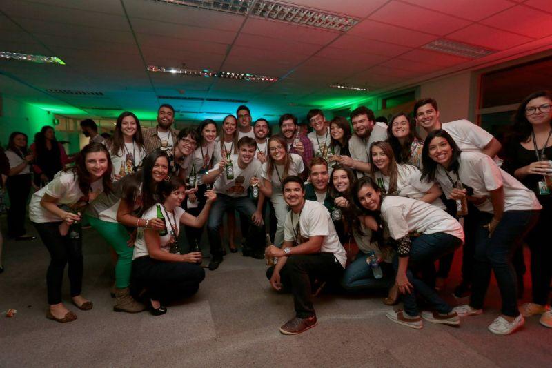Festa de início do Curso Abril de Jornalismo 2015 (Foto: Divulgação)