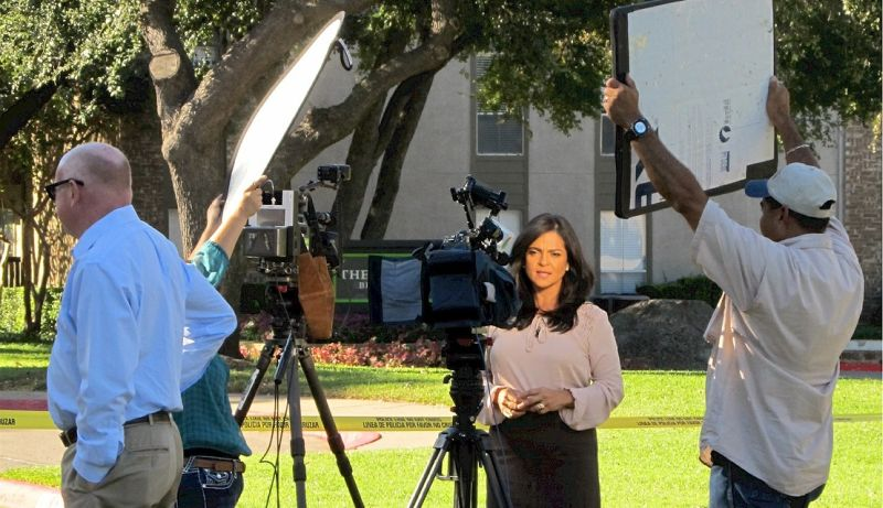 reporter telejornal