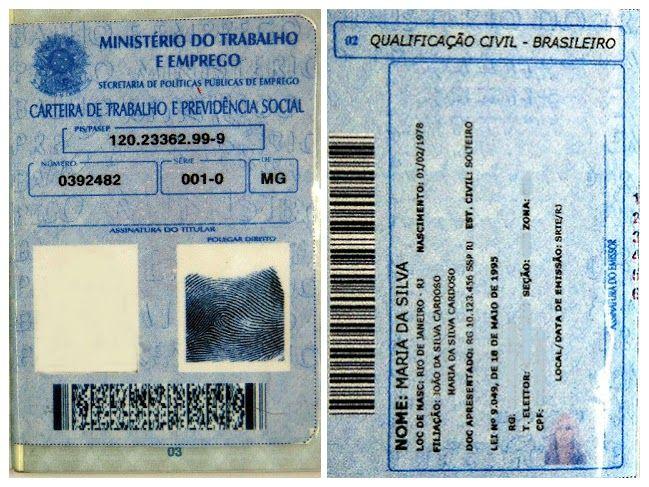 Páginas da CTPS cujas cópias devem ser entregues. Foto: Renato Alves / MTE
