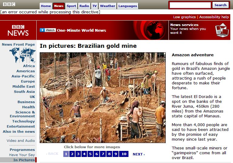 Fotos de Apu Gomes publicadas no site da BBC