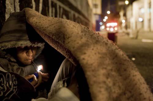 Fotografia tirada por Apu Gomes durante uma cobretura sobre a Cracolândia em São Paulo-SP