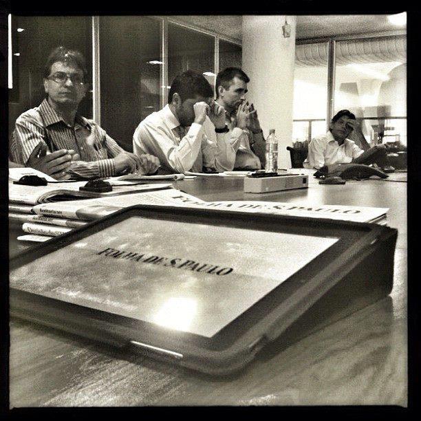 Reunião de pauta na Folha de S.Paulo. Foto: Folha de S.Paulo