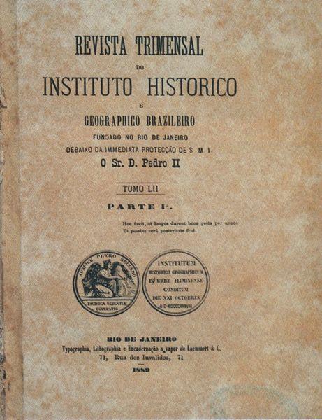 Exemplar da Revista do Instituto Histórico e Geographico Brazileiro