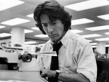 Dustin Hoffman no filme Todos os homens do presidente
