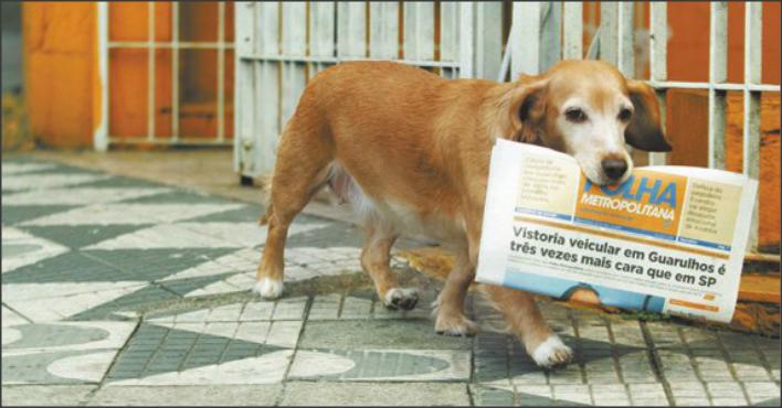 Jully carrega a edição da Folha Metropolitana até a porta de casa todos os dias e ainda deixa na cama. Foto: Lucas Dantas