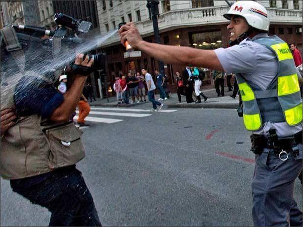 Ação da PM contra fotógrafos e cinegrafistas nos protestos de hoje passará por investigação, anuncia governo do Estado. Foto: Rodrigo Paiva/Estadão Conteúdo