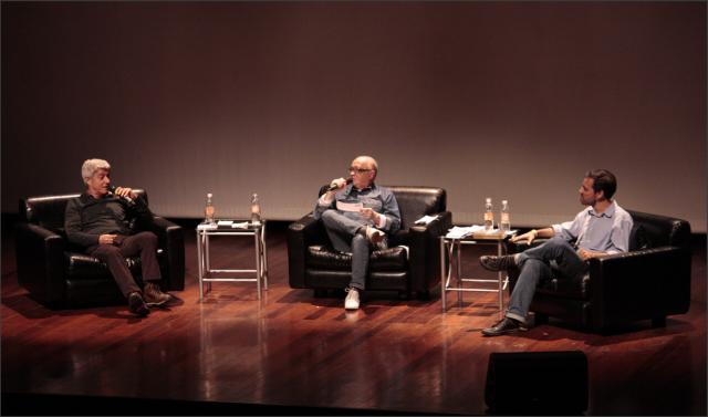 Da direita para esquerda: Caco Barcellos, Fernando Coelho e Ivan Marsiglia. Foto: Renata Asp