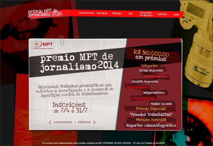 Prêmio MPT de jornalismo 2014