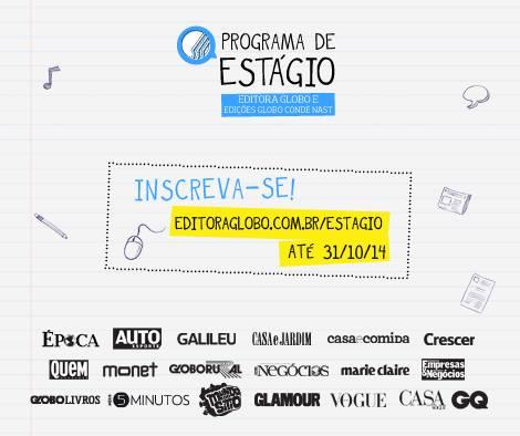 Programa de Estágio na Editora Globo 2015