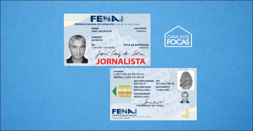 A carteira de jornalista da Fenaj é válida como documento em todo território nacional.