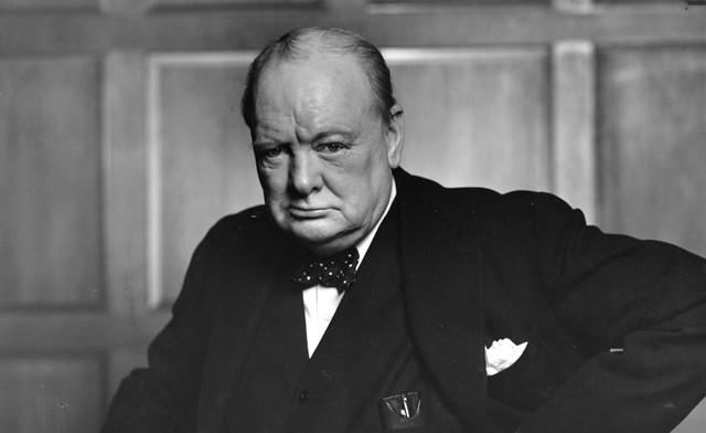 Winston Churchill, ex-primeiro-ministro do Reino Unido.
