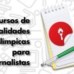 Curso gratuito sobre modalidades olímpicas é oferecido a jornalistas e estudantes