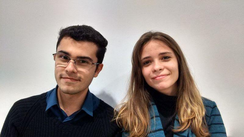 Lucas Carvalho e Rebecca Vettore