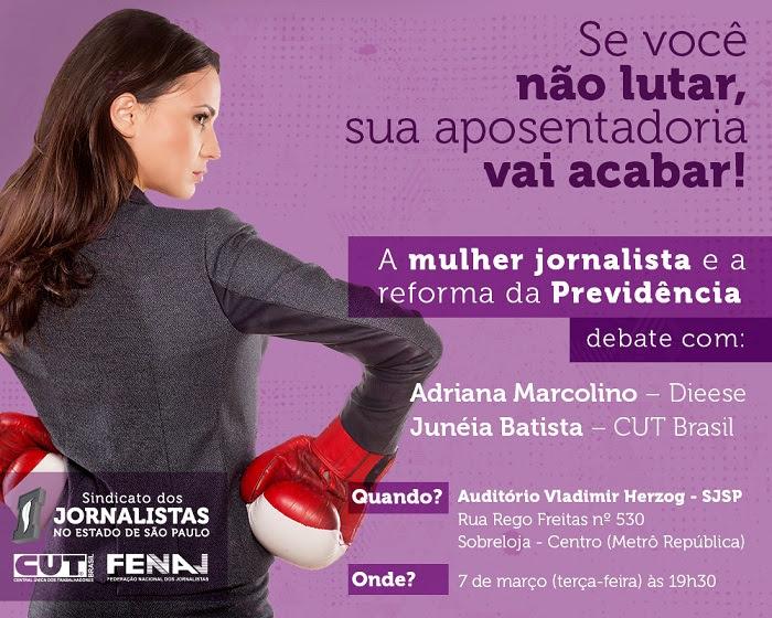 A mulher jornalista e a reforma da Previdência 1
